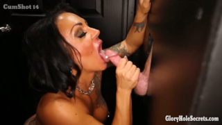 Carly in a Booth Nude Takes 15 Gloryhole Swallows in Adult Xtheatre XXX